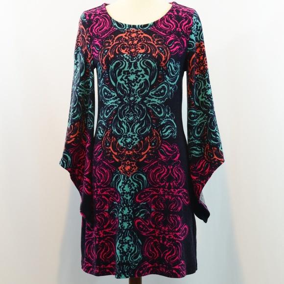 Aryeh Ladies Printed Sweater Dress